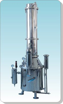Large double water distiller